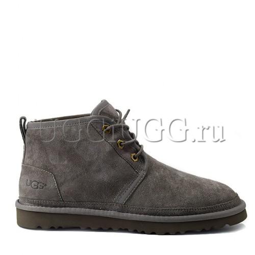 Мужские угги ботинки серые UGG Men Mini Neumel New Grey