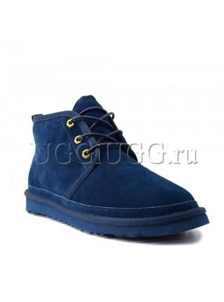 Угги ботинки синие мужские UGG Men Mini Neumel New Navy