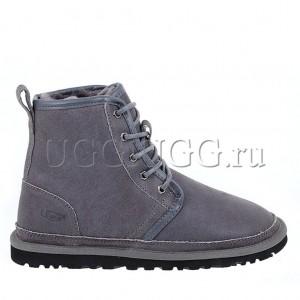 Серые мужские угги на шнурках UGG Mens Harkley Grey