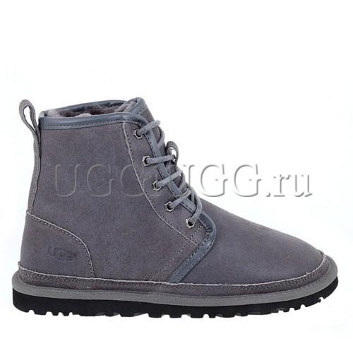 Мужские угги на шнурках серые UGG Mens Harkley Grey