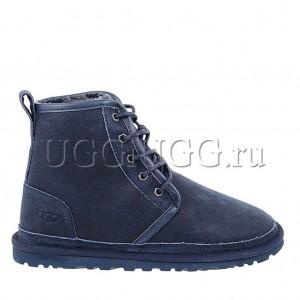 Синие мужские угги на шнурках UGG Mens Harkley Navy