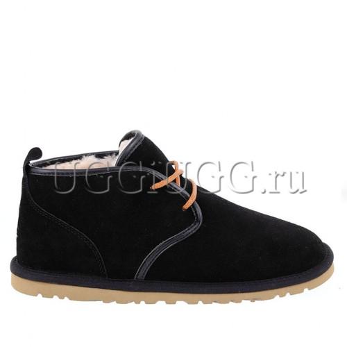Мужские угги ботинки на шнурках черные UGG Mens Maksim Black
