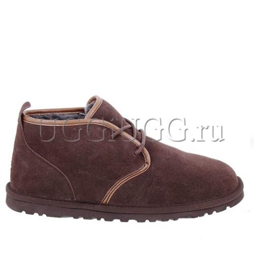 Угги ботинки мужские на шнурках коричневые UGG Mens Maksim Chocolate