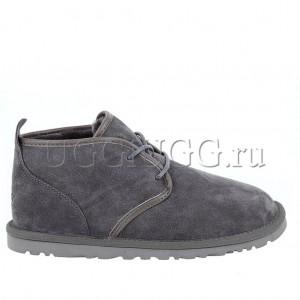 Серые мужские угги ботинки на шнурках UGG Mens Maksim Grey