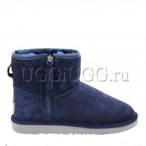 Мужские синие угги на молнии UGG Mens Classic Mini Zip Navy