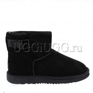 Черные мужские угги с ремешком UGG Mens Classic Mini Strap Black