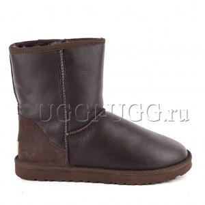 Мужские угги коричневые обливные UGG Men Short Metallic Chocolate