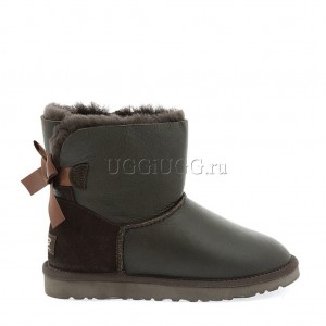 UGG Australia Mini Bailey Bow Metallic Chocolate