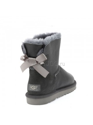 UGG Australia Mini Bailey Bow Metallic Grey