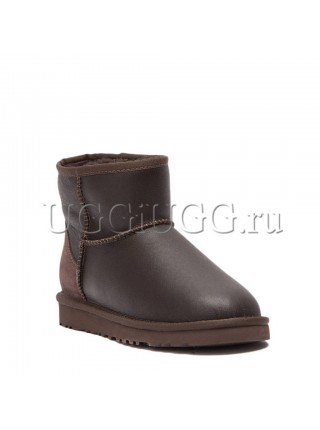 UGG Men Mini Metallic Chocolate