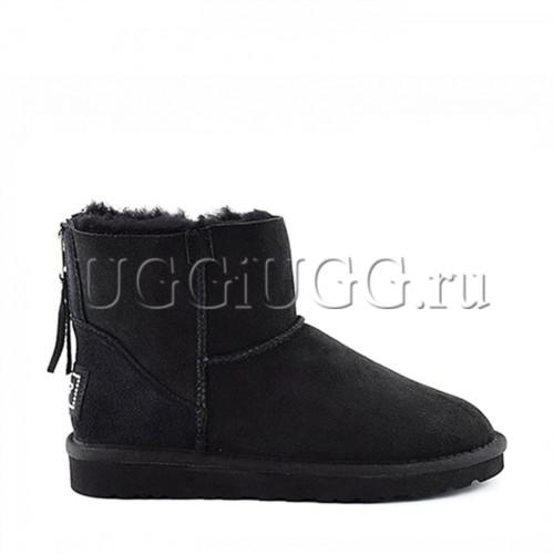 Мини угги на молнии черные UGG Mini Zip Black
