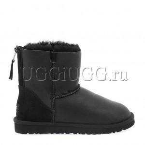 UGG Mini Zip Metallic Black