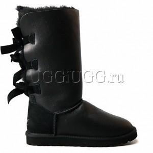 UGG Australia Bailey Bow Tall Metallic Black