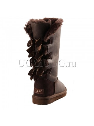 UGG Australia Bailey Bow Tall Metallic Chocolate