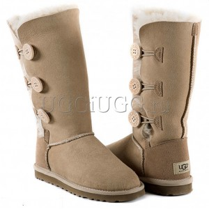 UGG Australia Bailey Button Triplet Sand
