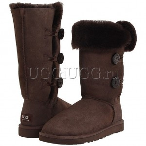 UGG Australia Bailey Button Triplet Chocolate