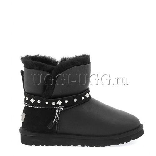 UGG Mini Renn Metallic Black