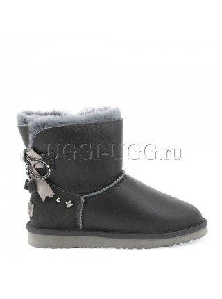 UGG Mini Bailey Braid Metallic Grey