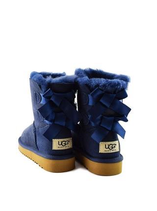 Угги для девочки синие с лентой UGG Kids Bailey Bow Navy