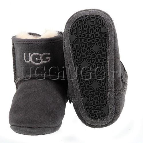 Пинетки угги с подошвой серые UGG Kids Jesse Grey