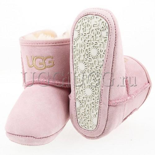 Пинетки угги с подошвой розовые UGG Kids Jesse Dusk