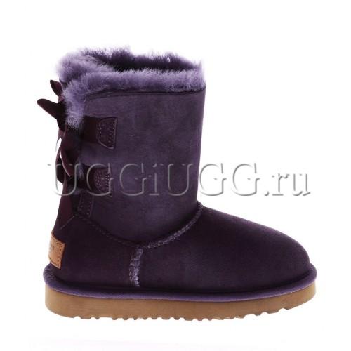 Угги для девочки фиолетовые с лентой UGG Kids Bailey Bow Purple