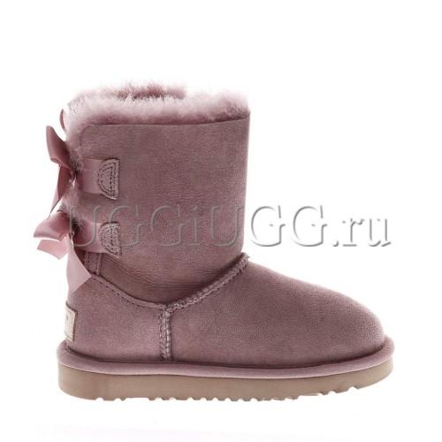 Угги для девочки розовые с лентой UGG Kids Bailey Bow II Dusk