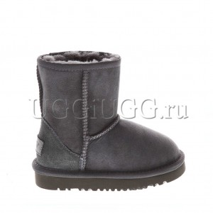 Детские угги серые замшевые UGG Kids Classic Grey