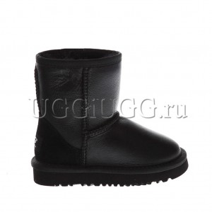Детские угги UGG KIDS CLASSIC METALLIC BLACK