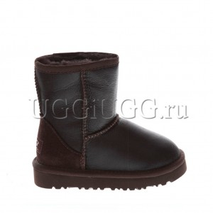 Детские угги UGG KIDS CLASSIC METALLIC CHOCOLATE