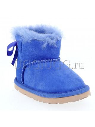 Детские угги мини с лентой UGG Kids Mini Bailey Bow Blue
