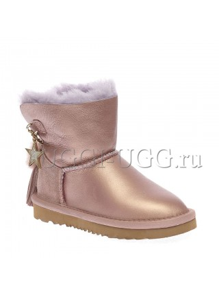 Угги для девочки розовые с помпоном UGG Kids Mini Charm Amethyst