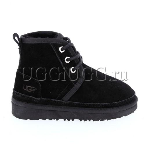 Ботинки угги для мальчика черные на шнуровке UGG Kids Neumel II Boot Black