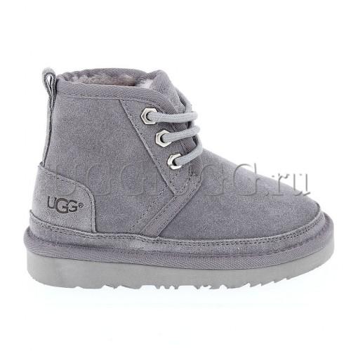 Ботинки угги для мальчика серые на шнуровке UGG Kids Neumel II Boot Grey