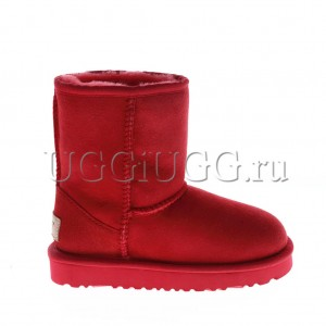 Детские угги красные классические UGG Kids Classic II Short Red