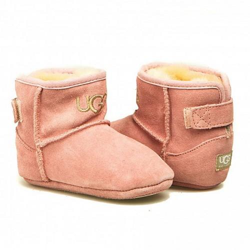 Пинетки с подошвой бледно-розовые UGG Kids Jesse Pink