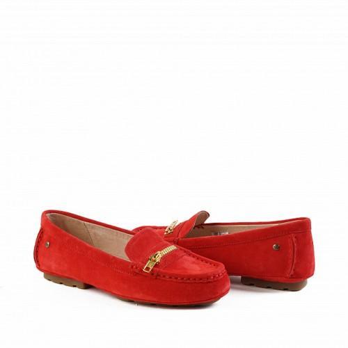 Летние угги мокасины красные UGG Milana Red