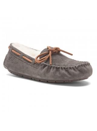 Женские мокасины с шнурком серые UGG Australia Moccasins Dakota Grey