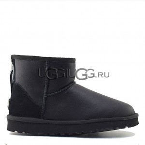 UGG Men Mini Zip Metallic Black