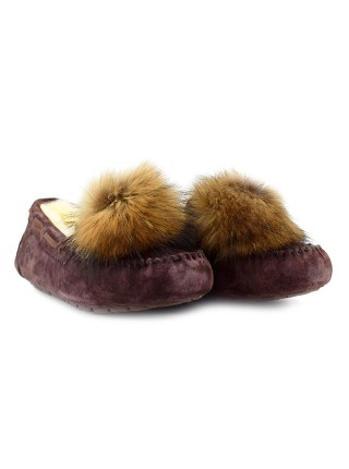 UGG Dakota Pom Pom Chocolate