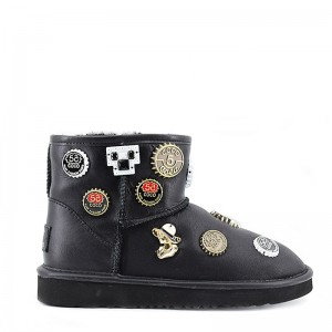 UGG Jimmy Choo mini Coco Chanel Black