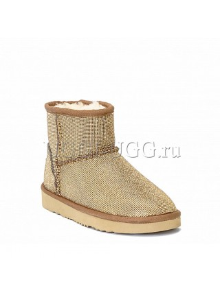 UGG JIMMY CHOO MINI SEREIN II CHESTNUT