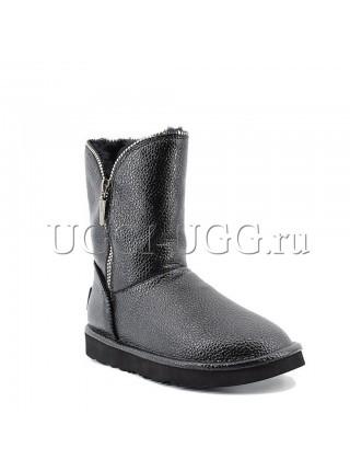 Угги Джимми Чу черные с молнией UGG Jimmy Choo Granular Skin Black
