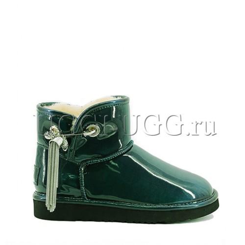 Зеленые мини угги с подвеской UGG & Jimmy Choo Mini L&C Green