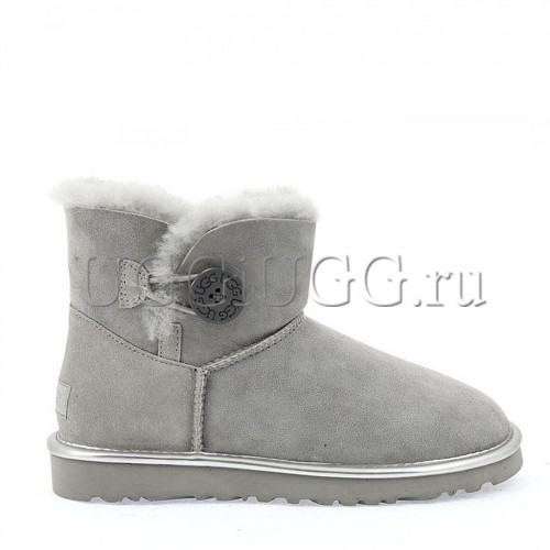 UGG Mini Bailey Button Metallic Geyser