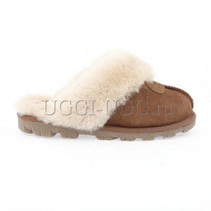 Тапочки угги домашние рыжие UGG Slipper Coquette Chestnut