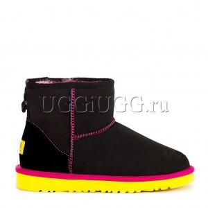 UGG Classic Mini Black Yellow