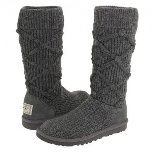 Вязаные угги серые UGG Argyle Knit Grey