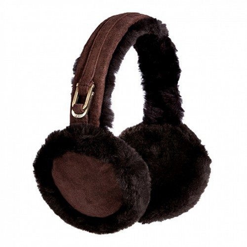 Меховые наушники коричневые UGG Earmuff Chocolate