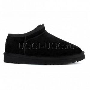 Слиперы с мехом черные UGG Slipper Tasman Black